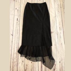John Galliano Pencil Skirt 4 Black/Silk Lining